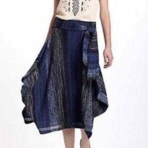 Anthropologie | Sparrow Blue Knit Sweater Skirt